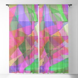 crank up the color Sheer Curtain