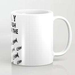only dead fish Coffee Mug