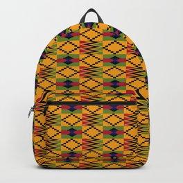 African kente pattern 6 Backpack