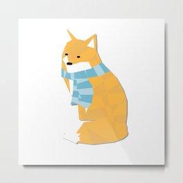 Cozy Fox Metal Print