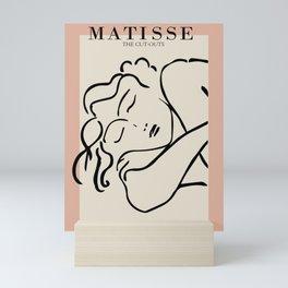 Henri matisse sleeping woman, matisse cut outs, cream and pink Mini Art Print