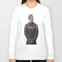 steve rogers Long Sleeve T-shirts featuring THE PRICE OF FREEDOM - Steve Rogers by Danielle Aragon