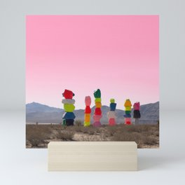 Seven Magic Mountains with Pink Sky - Las Vegas Mini Art Print