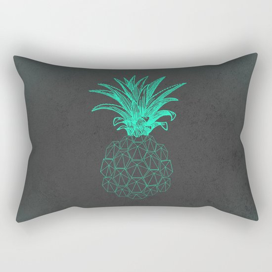 pineapple got the blues Rectangular Pillow