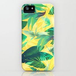 Tropical Leaves 2 iPhone Case