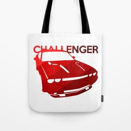 Dodge Challenger - classis red - Tote Bag