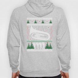Tuba Ugly Christmas Sweater Holiday Band T-Shirt Hoody