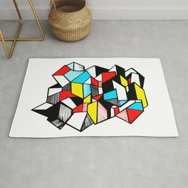 Geometric triangle popart Rug