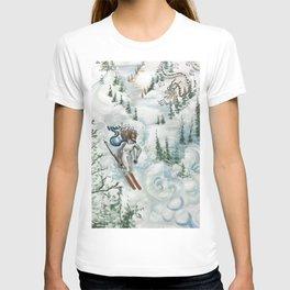 Winter Ski Dragon T-shirt