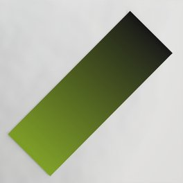 Ombre   Charcoal Grey and Lime Green Yoga Mat