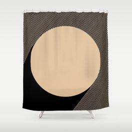 Beige Circle Shower Curtain