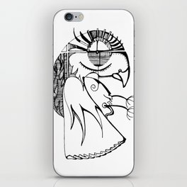 A kind of parrot iPhone Skin