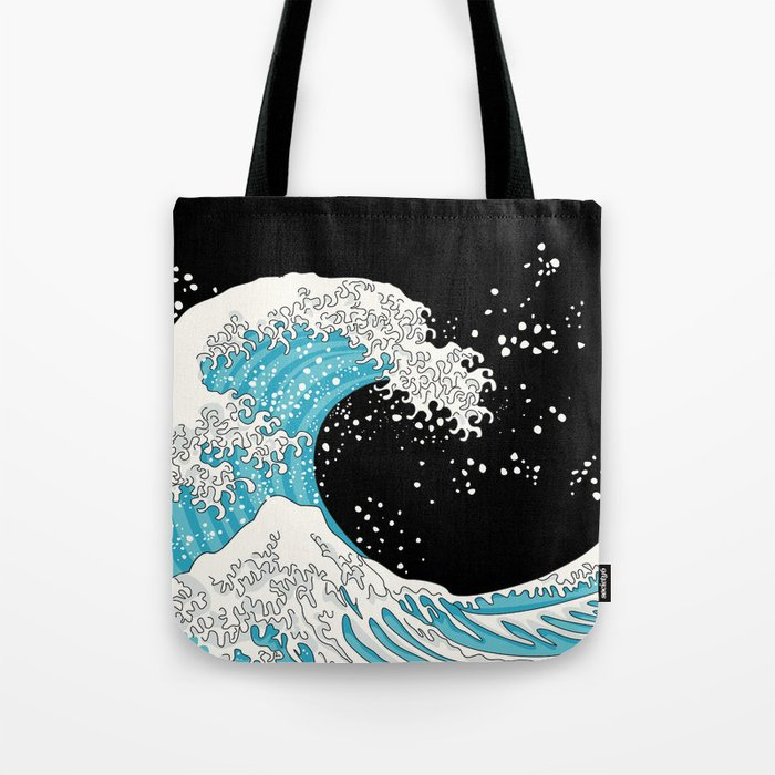 The Great Wave (night version) Tote Bag