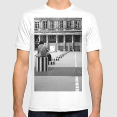 Full speed ahead into the wall MEDIUM Mens Fitted Tee White