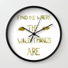 Wild Things - Gold Wall Clock