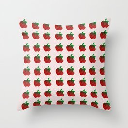 The Deceptive Apple Throw Pillow