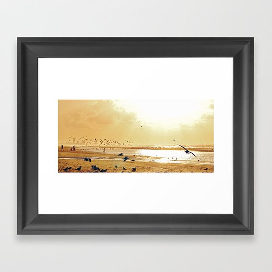 Beach ambience Framed Art Print