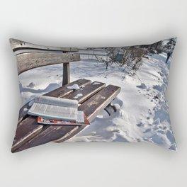 Winter in park Rectangular Pillow