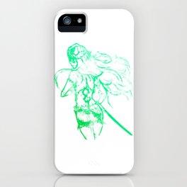 Arrancar - Green Abstract Art iPhone Case