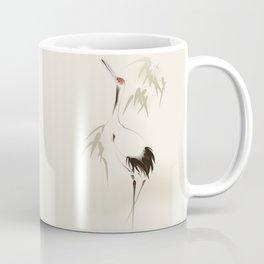 Oriental Red-Crowned Crane 001 Coffee Mug