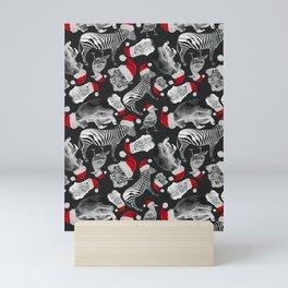 Animal Santas Mini Art Print