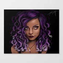 Indigo in Purple Canvas Print