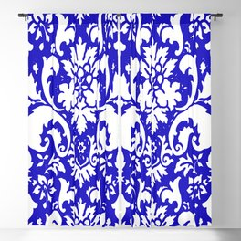 PAISLEY DAMASK BLUE AND WHITE 2019 PATTERN Blackout Curtain