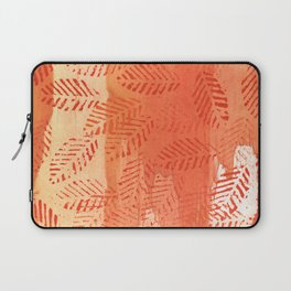 Tomato red abstract painting Laptop Sleeve