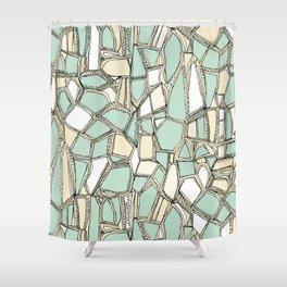 BROKEN POP mint Shower Curtain