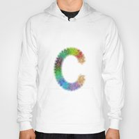letter Hoodies featuring Letter C by David Zydd