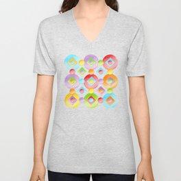 Rainbow Dots Unisex V-Neck