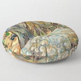 Vincent Van Gogh - The Large Plane Trees Floor Pillow