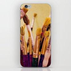 Paintbrushes iPhone & iPod Skin