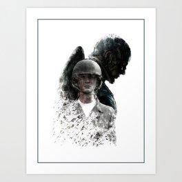 Cap America Digital Fan Art Ink-Blot Poster Art Print