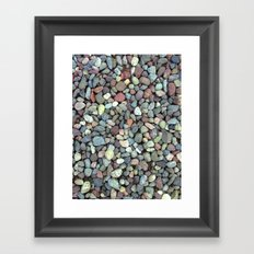 Rocks on Ground Color Photo Framed Art Print
