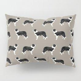 Border Collie dog pattern pet friendly dog art dog lover gifts with favorite dog breeds Pillow Sham