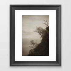 On Edge - Black and White Framed Art Print
