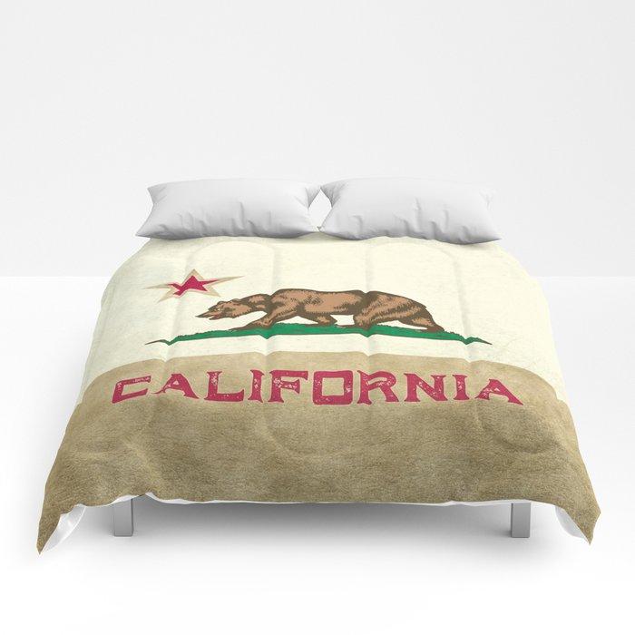 Vintage California Flag Comforters