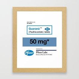 Kitchen Posters - Viagra/Guarana Framed Art Print