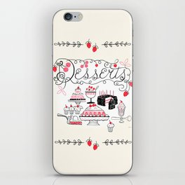 Midcentury Recipes Make Sweet And Lovely Vintage Desserts iPhone Skin