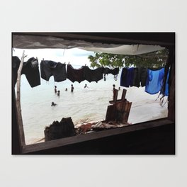 No Mercy Window Canvas Print