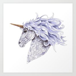 Celina the Unicorn Art Print