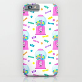Pink Candy Dispenser – Rainbow Candy Shop Pattern iPhone Case