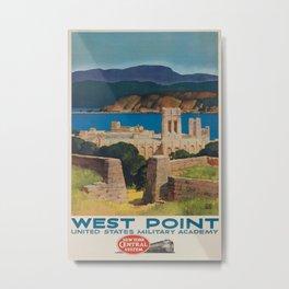 West Point Vintage Travel Poster Metal Print