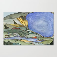 Large Lake Landscape Canvas Print