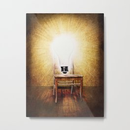 The Seat of Big Ideas Metal Print