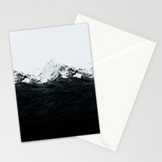Those waves were like mountains Stationery Cards