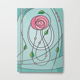 Mackintosh Rose Metal Print