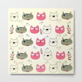 Cats Expression Metal Print