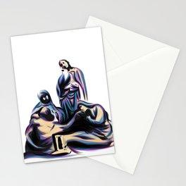 Crucifix Scene Stationery Cards